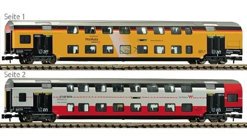 Fleischmann N 2階建客車 1/2等 チューリッヒ S Bahn 用 ZVV Netz特別色 SBB Ep�Y